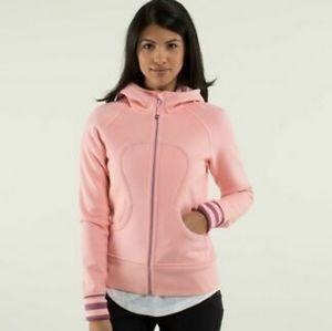 Size 6 Baby Pink Lululemon Scuba Zip Hoodie Jacket